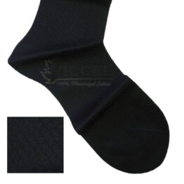 Viccel Socks - Black Textured Cotton Socks