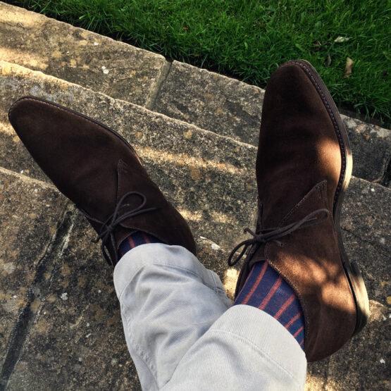 Viccel Luxury Socks - Navy Blue Taba Shadow Cotton Socks