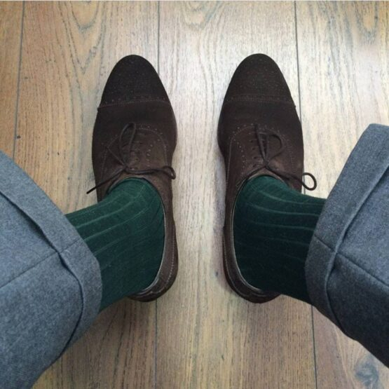 Viccel forest green Over the calf socks Over the knee cotton socks