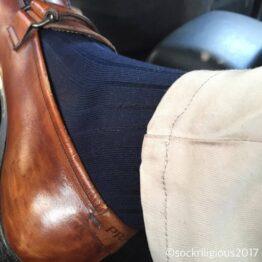 Viccel navy blue Blue Over the calf socks Over the knee cotton socks