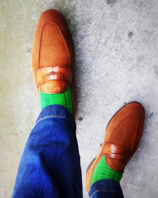 Viccel pistacio Blue Over the calf socks Over the knee cotton socks