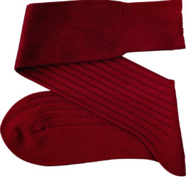 Viccel Claret Red Blue Over the calf socks Over the knee cotton socks Luxury socks buy socks