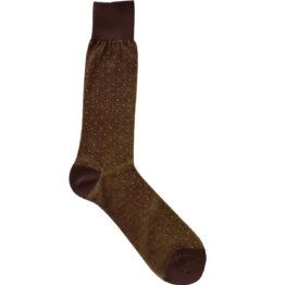 Viccel Socks - Brown Yellow Pindot Mid Calf Socks