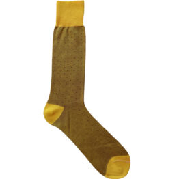Viccel Socks - Yellow Red Pindot Mid Calf Socks