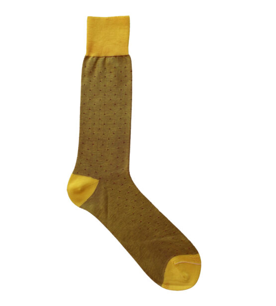 Viccel Socks - Yellow Red Pindot Mid Calf Socks
