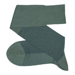 Fish Net Green Petrolium Blue Over The Calf Luxury Cotton Dress Socks Buy where to buy direct sale from the socks producer at reasonable prices happy people, happy socks, chaussette fil d'ecosse Homme