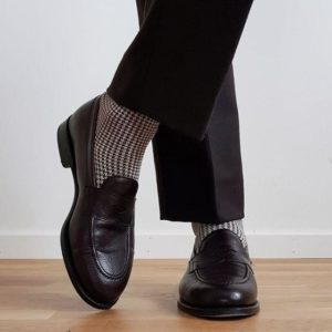 viccel cotton houndtooth midcalf socks