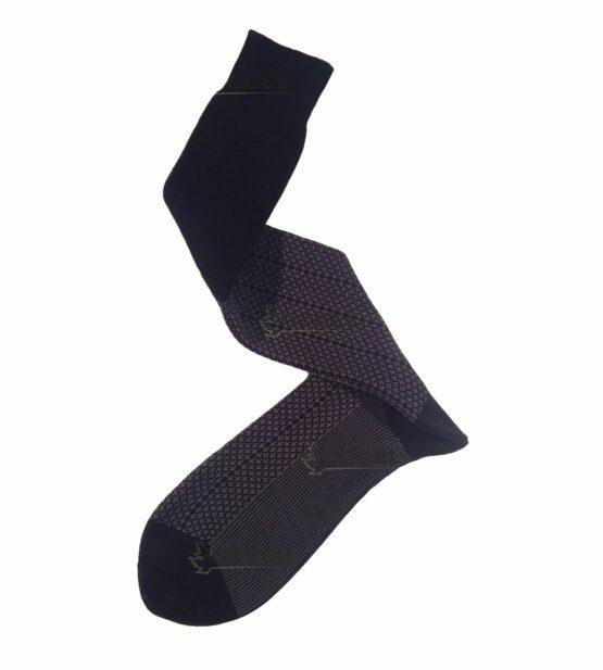 Black Gray Plus Design Over The Calf Socks Cotton Luxury socks buy socks