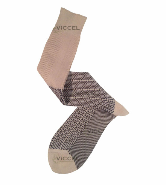 Raw Black Plus Design Over The Calf Cotton Luxury socks