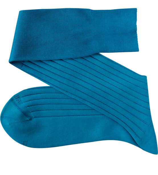Viccel Turquoise Over the calf socks Over the knee cotton socks Buy socks