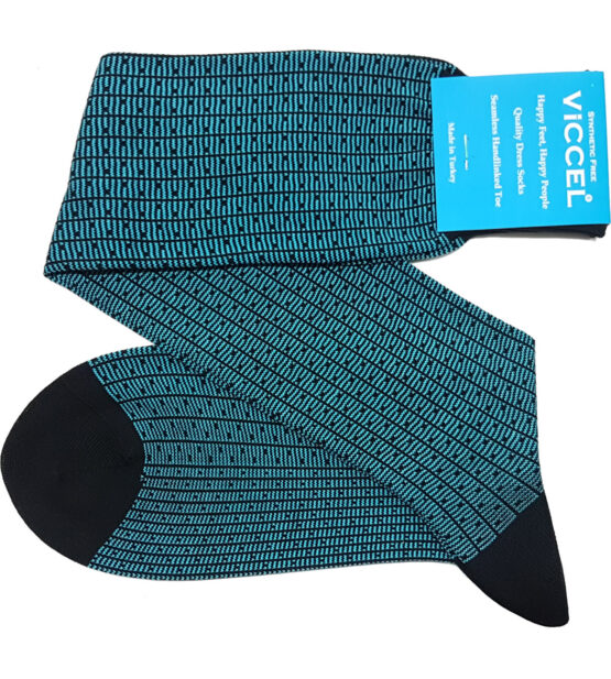 Black Blue Vertical Striped and Dots Socks over the calf mid calf buy socks