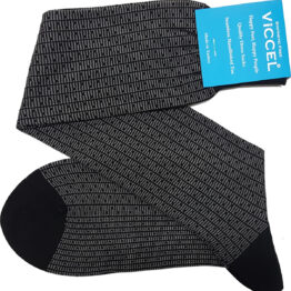 Black Gray Vertical Striped and Dots Socks Buy
