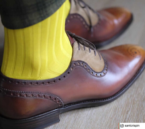 Viccel Socks - Vivid Canary Yellow Cotton Socks the photo taken by our client if you are asking where to buy quality mens dress socks at reasonable prices