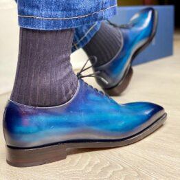 charcoal Ribbed Socks