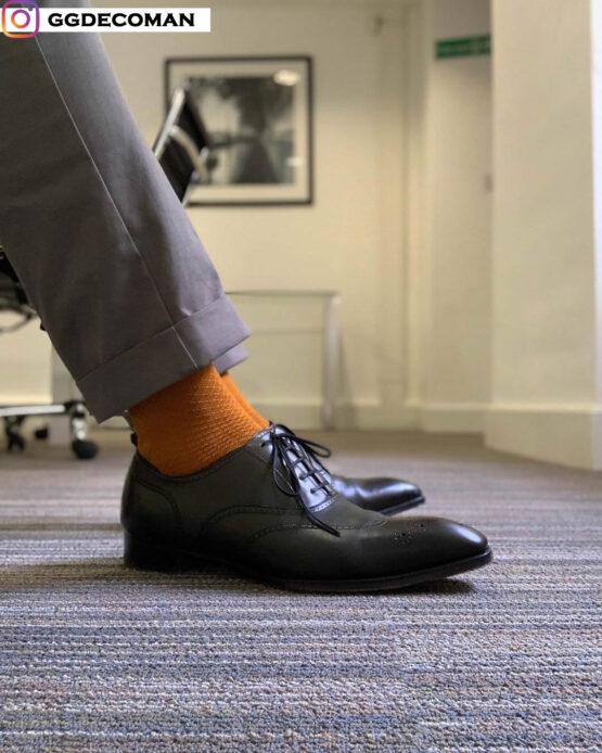 viccel golden fishnet men socks