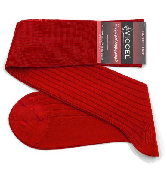 Viccel Scarlet Red Midcalf socks Over the knee cotton socks