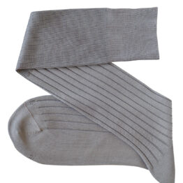Viccel light gray Over the calf socks Over the knee cotton socks Luxury where buy socks, direct sale from the socks producer at reasonable prices happy people, happy socks, chaussette fil d'ecosse Homme