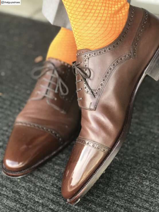 Viccel Socks Mustard Orange fishnet cotton socks buy socks luxury socks