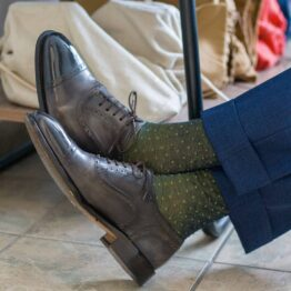 viccel navy blue pindots cotton socks