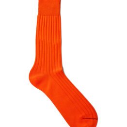 Viccel orange Midcalf socks Over the knee cotton socks