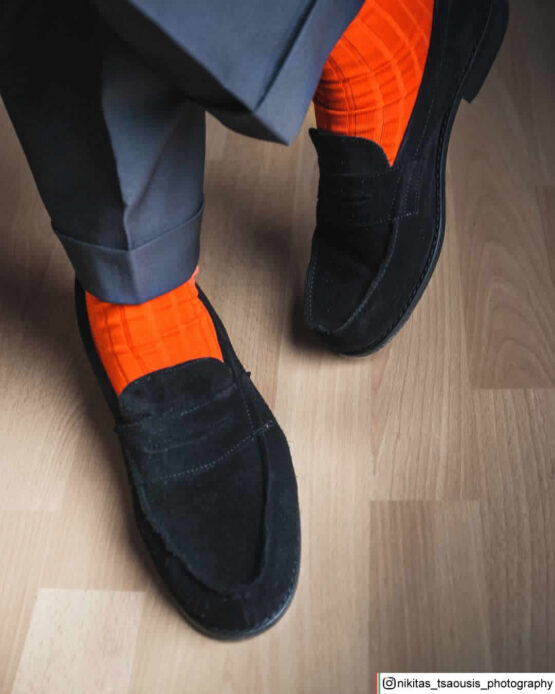 Orange Cotton luxury socks buy socks