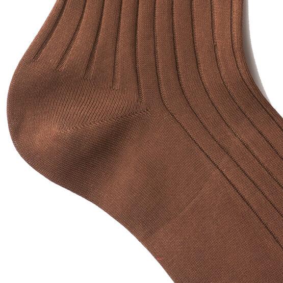 Viccel Brown Midcalf socks Over the knee cotton socks