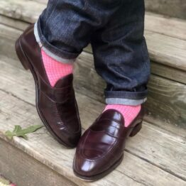 viccel pink light pink houndstooth midcalf luxury socks