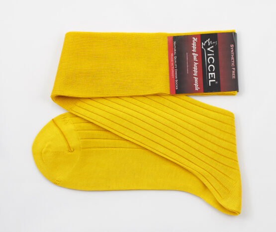 Viccel Canary Yellow Over the calf socks Over the knee cotton socks buy socks