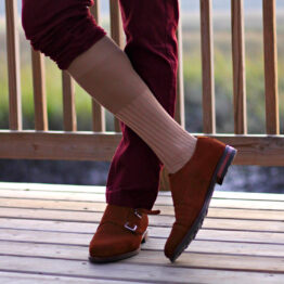 Viccel Socks - Tan Cotton Lisle Over The Calf Socks from our client if you are asking where to but quality socks at reasonable prices