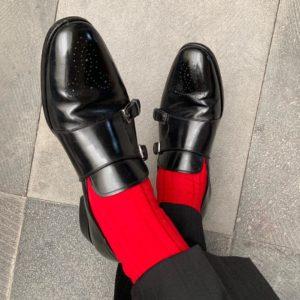 Viccel dress socks scarlet red cotton luxury socks