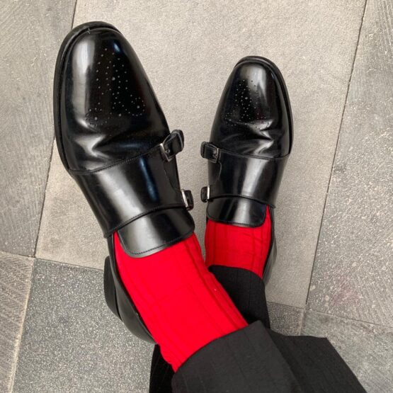 Viccel dress socks scarlet red cotton luxury socks