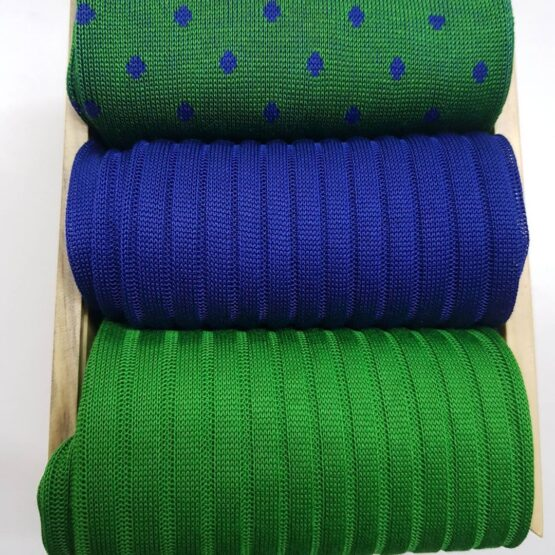 viccel green cotton ribbed socks