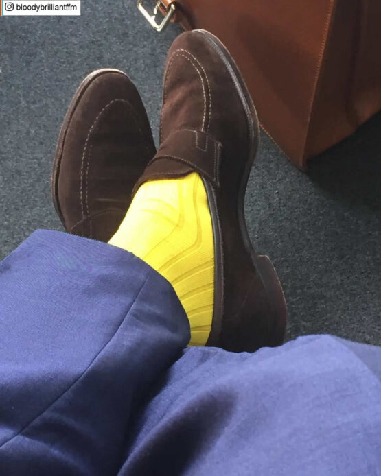 Yellow Cotton Luxury Socks buy socks