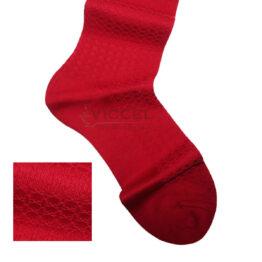 Viccel Socks - Scarlet Red Textured Cotton Socks