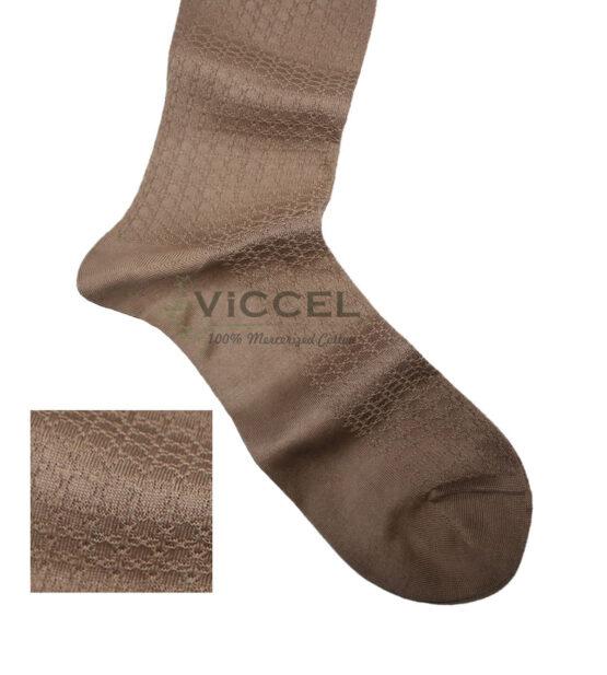 Viccel Socks - Tan Textured Cotton Socks
