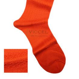 Viccel Socks - Orange Textured Cotton Socks
