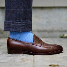 sky blue cotton viccel socks