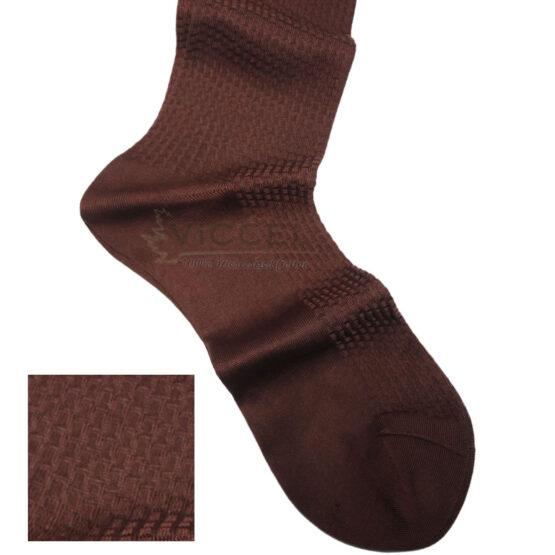 Viccel Socks Textured Brown Brick Socks