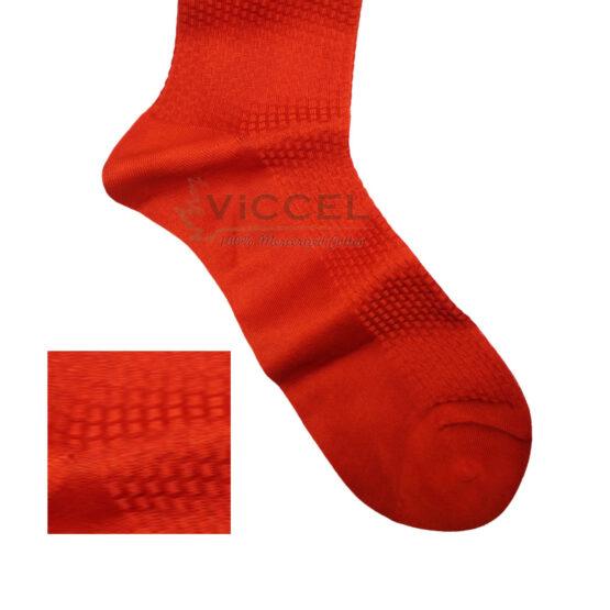 Viccel Socks Textured Orange Brick Socks