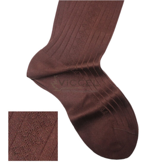 Viccel Socks Textured Brown Socks
