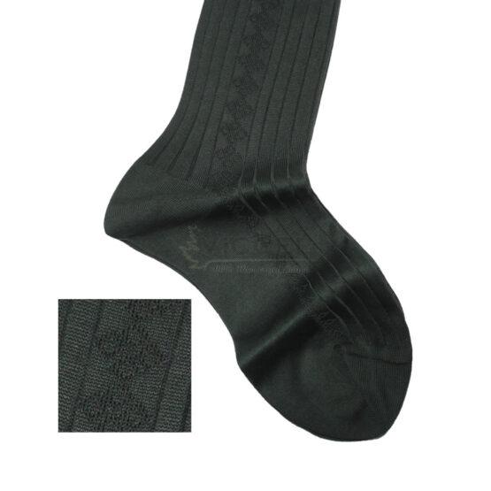 Viccel Socks Textured Forest Green Socks