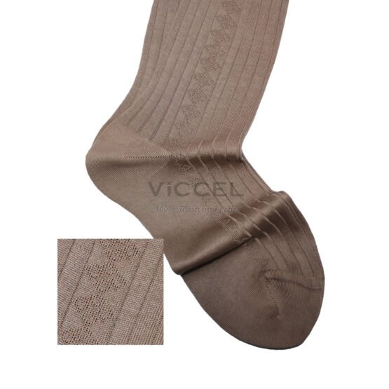 Viccel Socks Textured Tan Socks