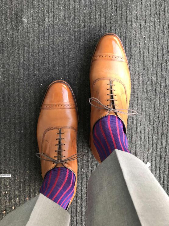 Viccel Socks Royal Blue Red Shadow cotton socks but socks luxury socks