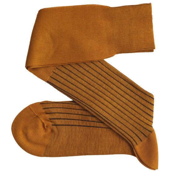 Mustard Brown Shadow cotton Viccel socks