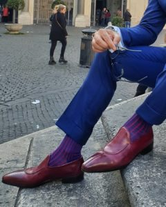 viccel royal blue red shadow over the calf socks gift socks luxury socks