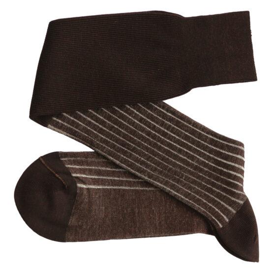 Viccel Shadow stripe over the calf luxury socks