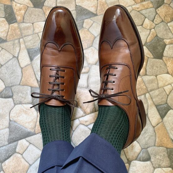Forest green cotton viccel socks