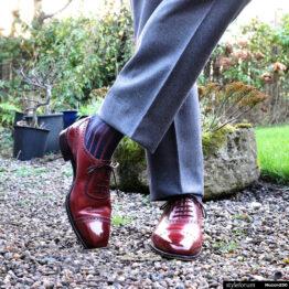 Viccel Navy Blue Taba Shadow over the calf cotton socks buy socks