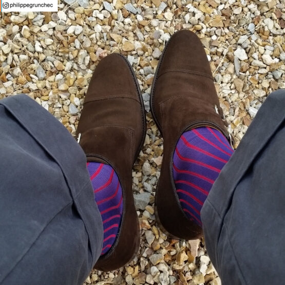 Royal Blue Red Shadow Cotton socks Buy where to buy direct sale from the socks producer at reasonable prices happy people, happy socks, chaussette fil d'ecosse Homme