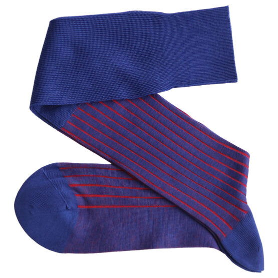 Viccel Socks Shadow Socks royal blue red luxury socks